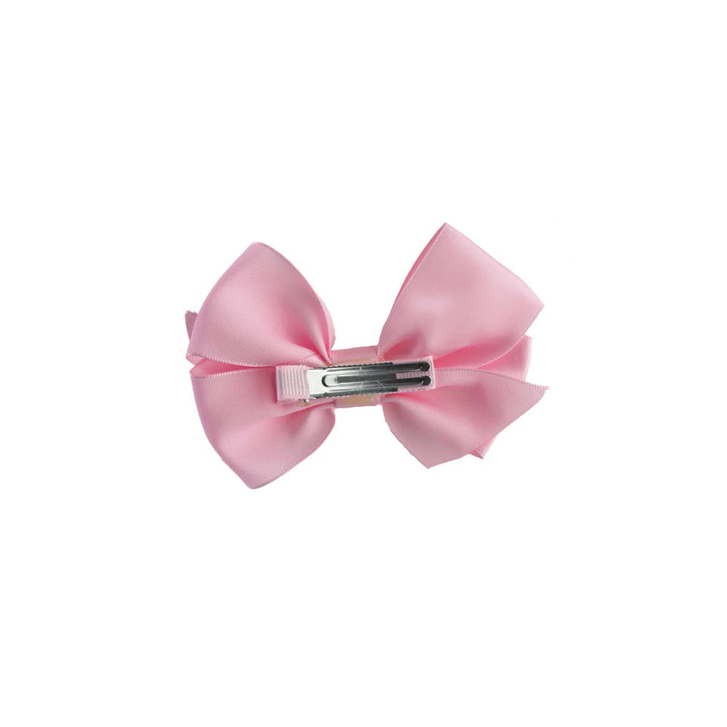 Baby Pink Satin Ribbon Hairbow