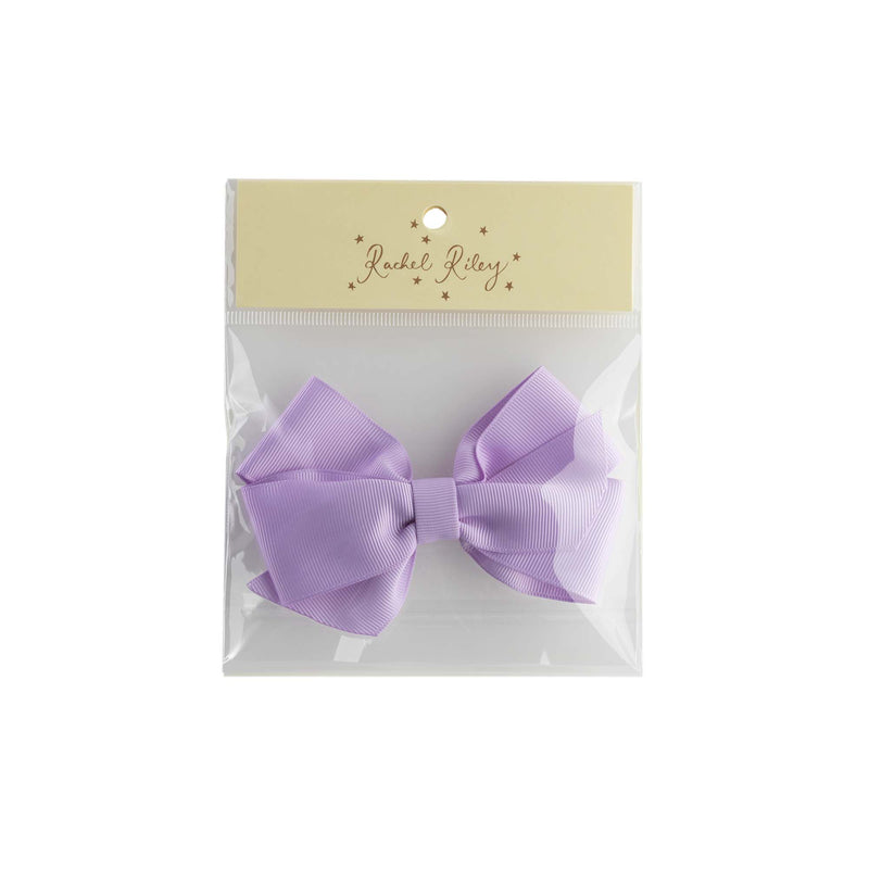 Lilac Grosgrain Ribbon Hairbow