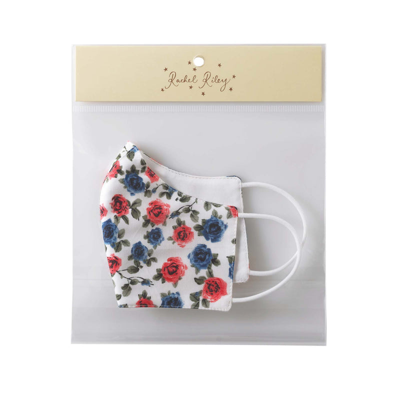 RED & BLUE ROSES PRINT MASK, CHILDREN'S