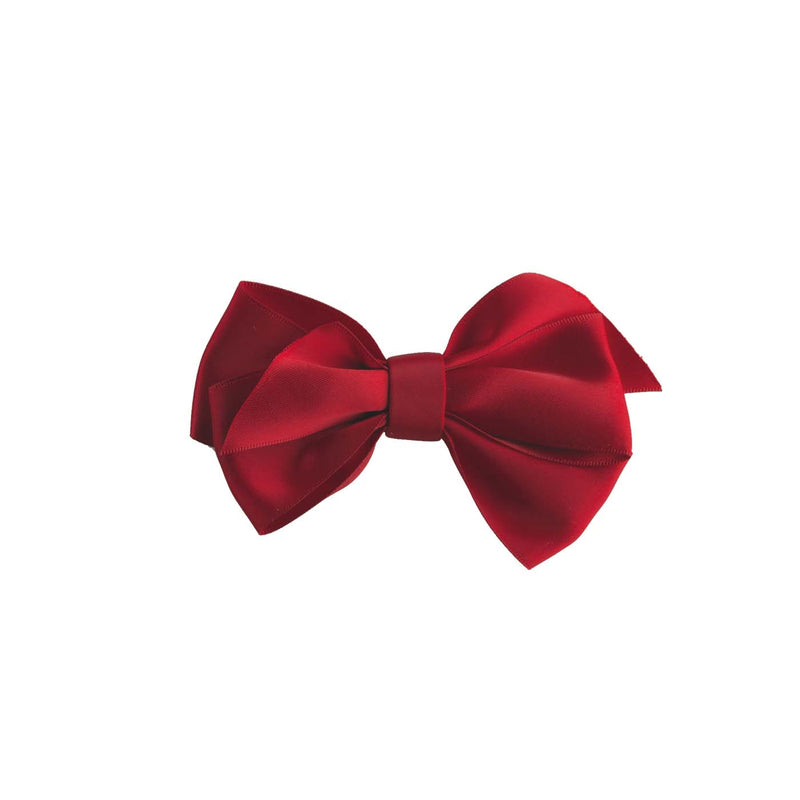 Red Satin Ribbon Hairbow
