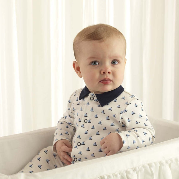Sailboat Collared Babygro