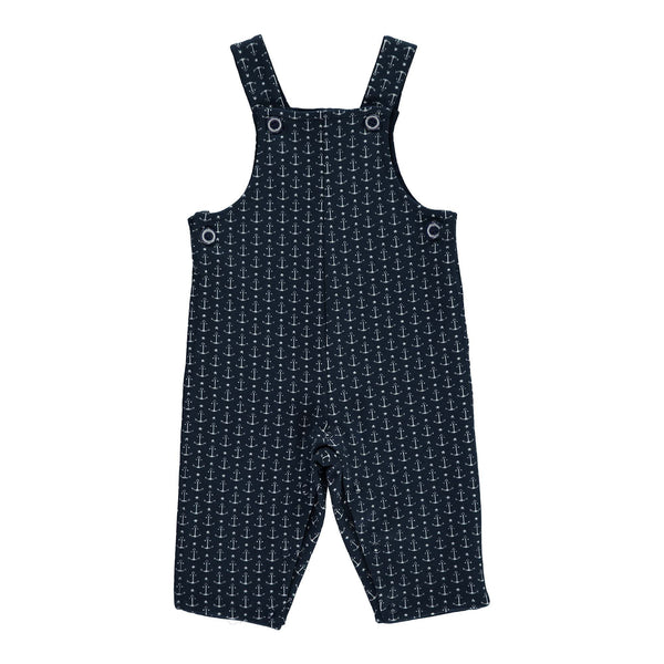 anchor jacquard dungarees, baby boy dungarees, romper, overall, Rachel Riley dungarees, casual wear