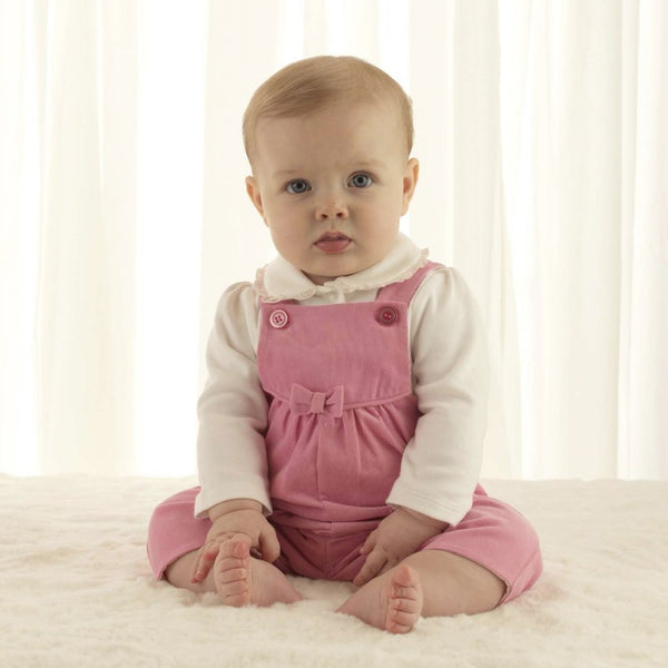 babycord dungarees, corduroy, baby girl dungarees, pink, Rachel Riley dungarees