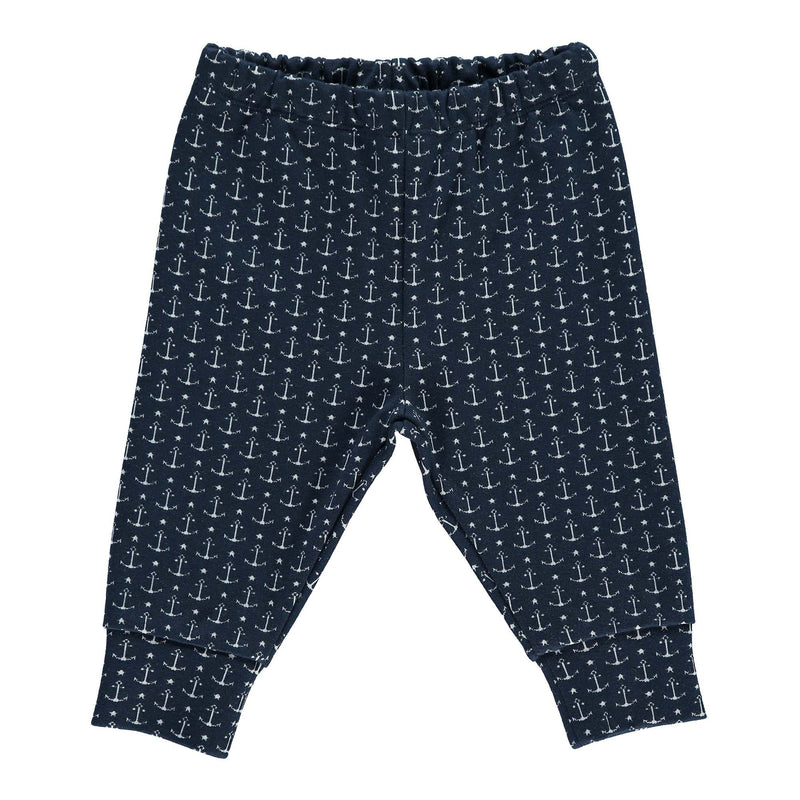anchor jacquard trousers, baby boy trousers, anchor, navy trousers, casual wear