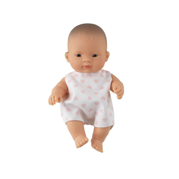 'Sweetie' Baby Girl Doll & Heart Babysuit