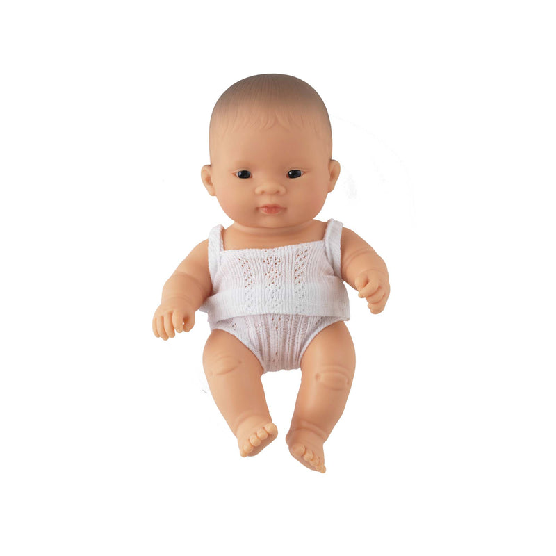 'Sweetie' Baby Girl Doll & Rainbow Babysuit
