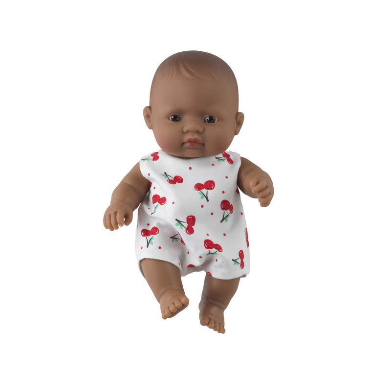 'Jewel' Baby Girl Doll & Cherry Babysuit