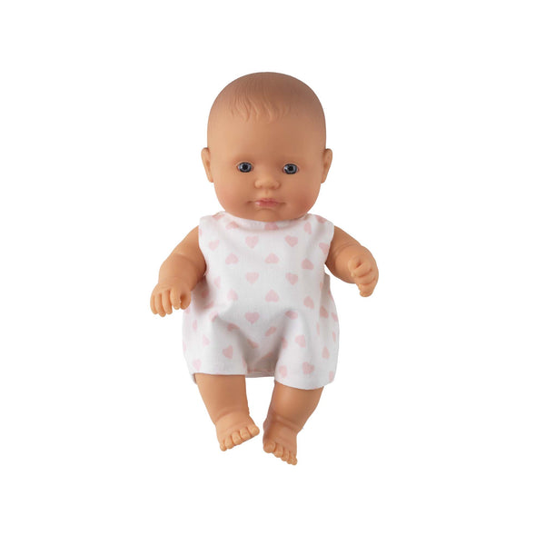 'Ruby' Baby Girl Doll & Heart Babysuit