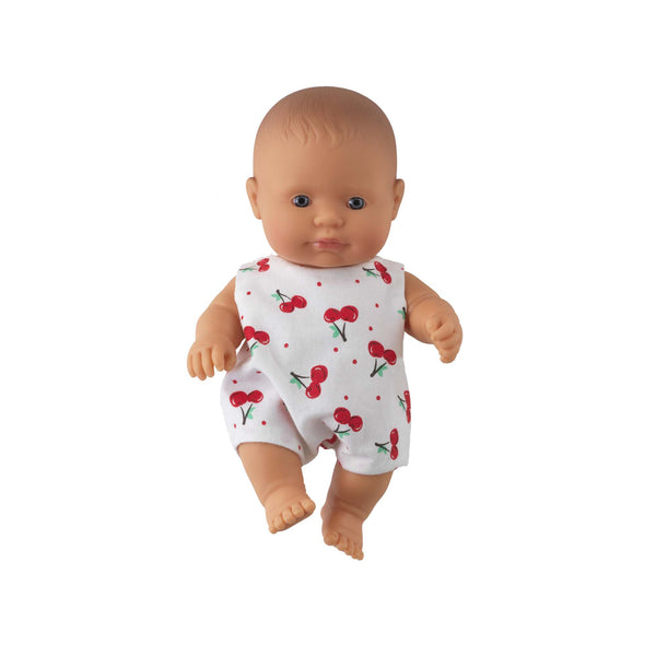 'Ruby' Baby Girl Doll & Cherry Babysuit