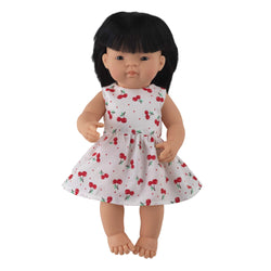 'Sisi' Girl Doll & Cherry Dress