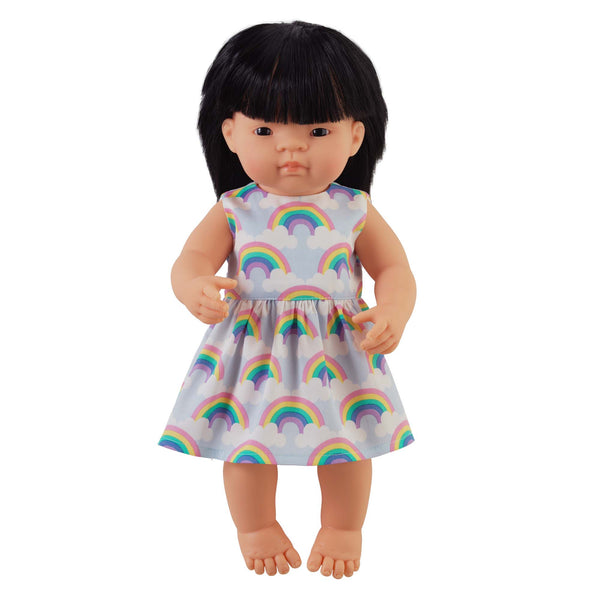 'Sisi' Girl Doll & Rainbow Dress
