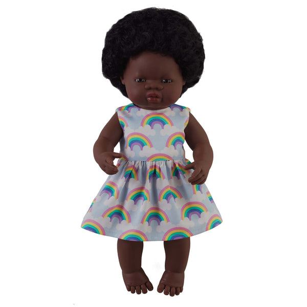 'Tilly' Girl Doll & Rainbow Dress