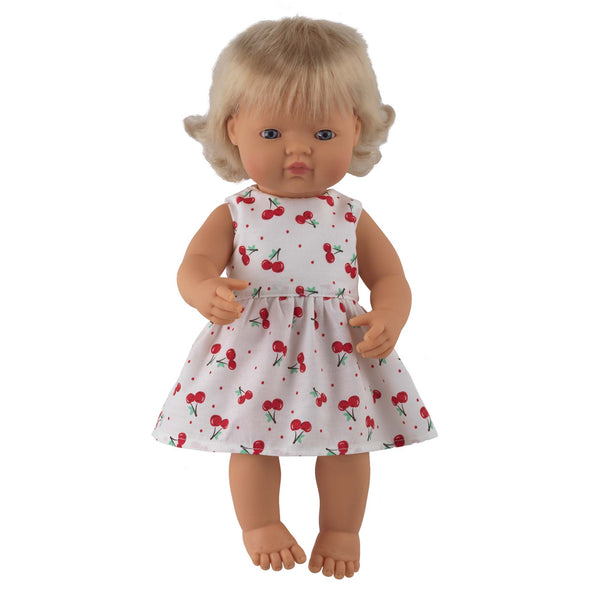 'Rose' Girl Doll & Cherry Dress