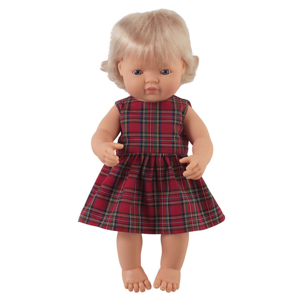 'Rose' Girl Doll & Tartan Dress