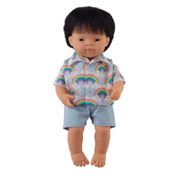 'Simon' Boy Doll & Rainbow Set