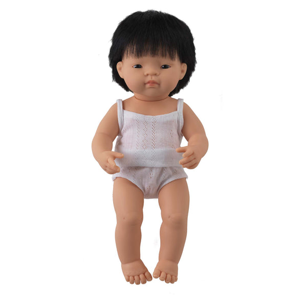 'Simon' Boy Doll & Stripe Shirt & Short Set