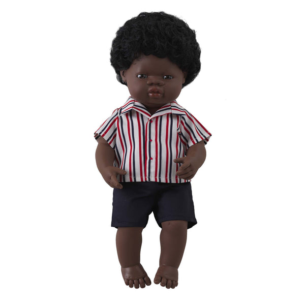 'Thomas' Boy Doll & Stripe Shirt & Short Set