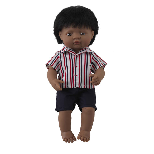 'Jack' Boy Doll & Stripe Shirt & Short Set
