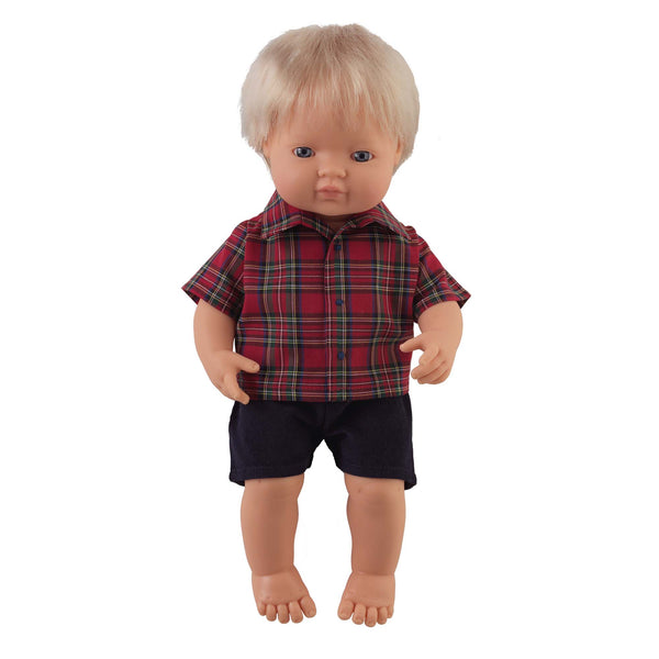 'Rocky' Boy Doll & Tartan Set
