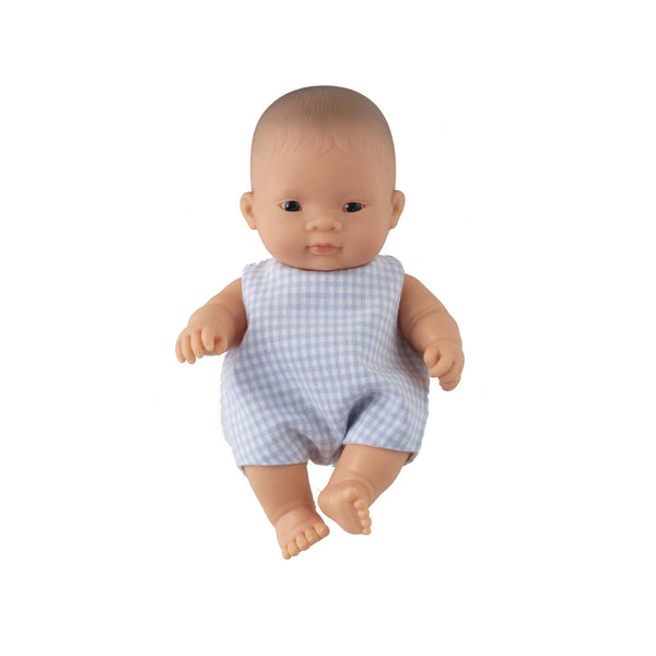 'Sammy' Baby Boy Doll & Check Romper