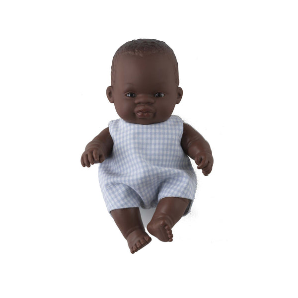 'Toto' Baby Boy Doll & Check Romper