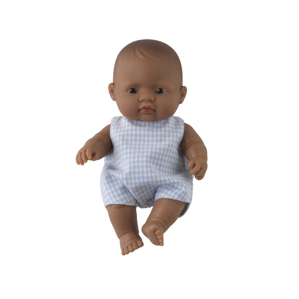 'Jimmy' Baby Boy Doll & Check Romper