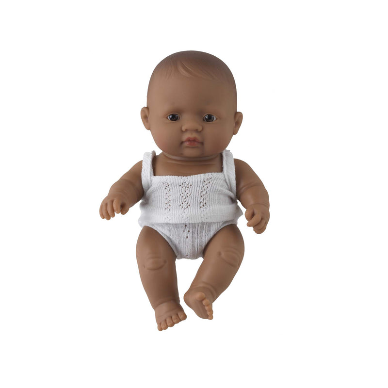 'Jimmy' Baby Boy Doll & Rainbow Romper