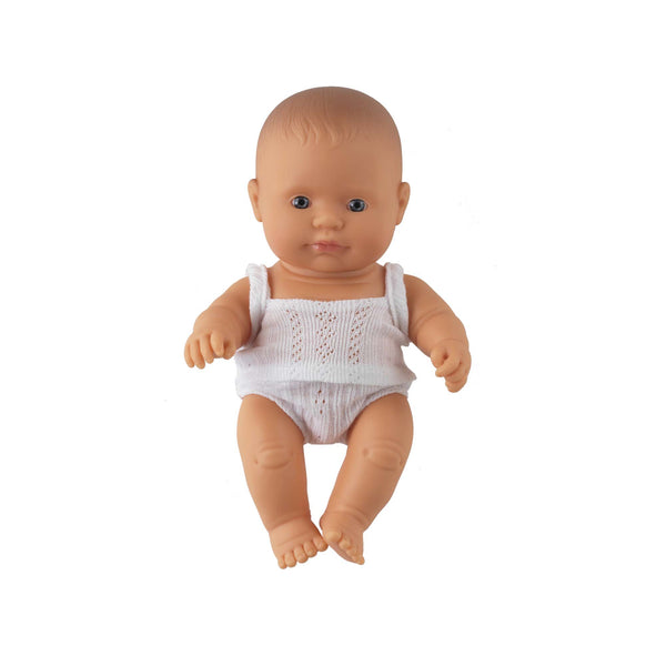 'Rex' Baby Boy Doll & Check Romper