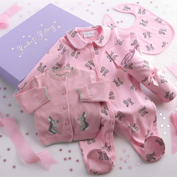 Pink Baby Bunny Gift Box