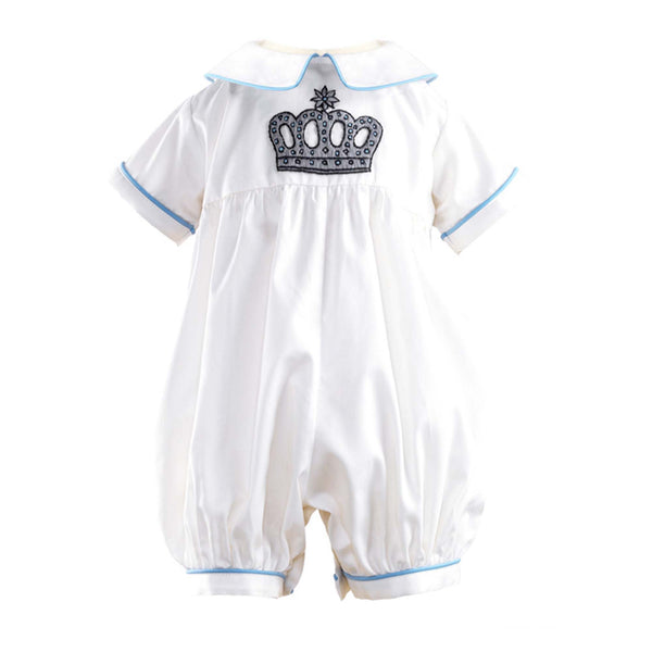 Prince Crown Embroidered babysuit