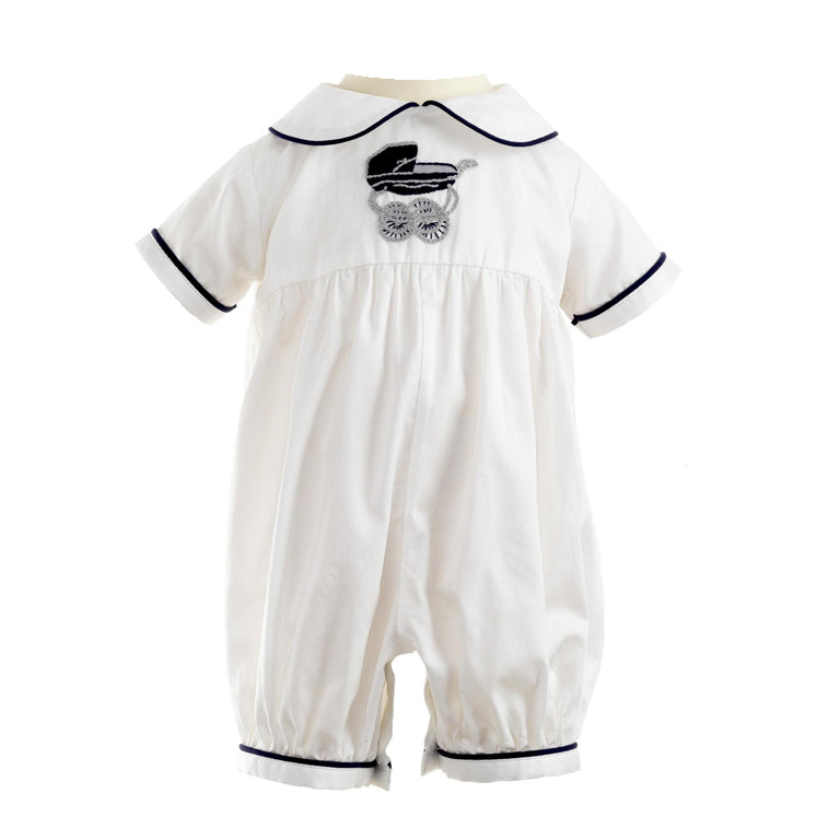 Pram Embroidered Babysuit