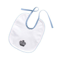 Prince Crown Embroidered Bib