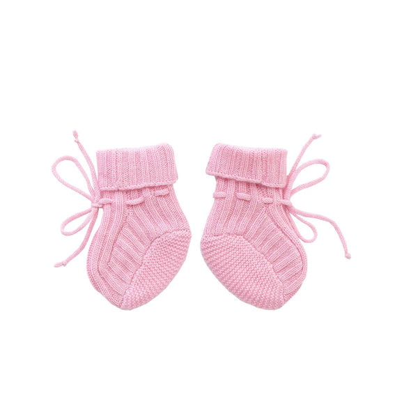 cashmere bootes, pink bootes, baby girl bootes, Rachel Riley knitwear, cashmere accessories, baby