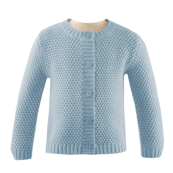 Round Neck Moss Stitch Cardigan