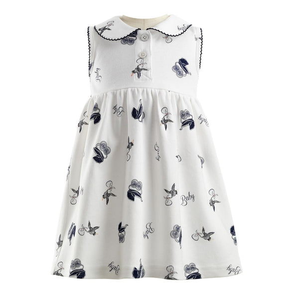 Pram Print Jersey Dress & Bloomers