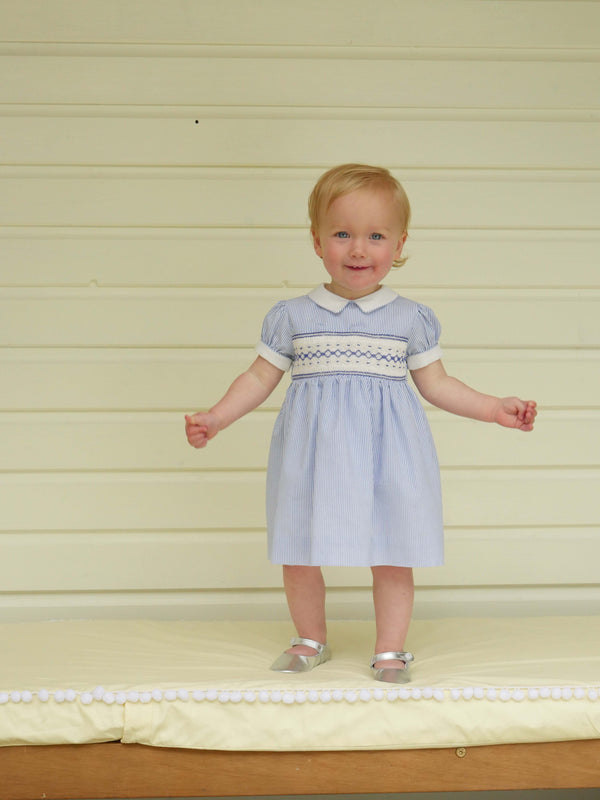 Striped Smocked Dress & Bloomers