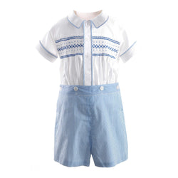 Striped Smocked Set