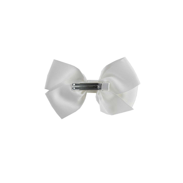 Ivory Grosgrain Ribbon Hairbow