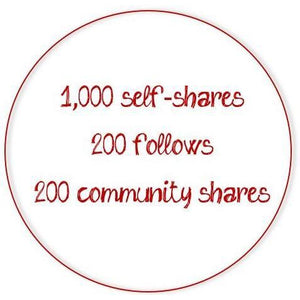 Poshmark Activity Monthly Subscription - 1,000 self-shares/day-Newish
