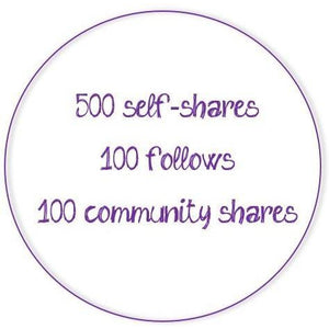 Poshmark Activity Monthly Subscription - 500 self-shares/day-Newish