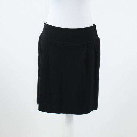 Black stretch KENNETH COLE NEW YORK pleated front knee-length A-line skirt 8