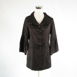 Dark brown zebra PENTA bell sleeve jacket M