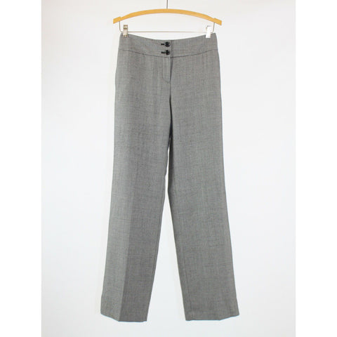 Gray geometric wool blend TALBOTS dress pants 4