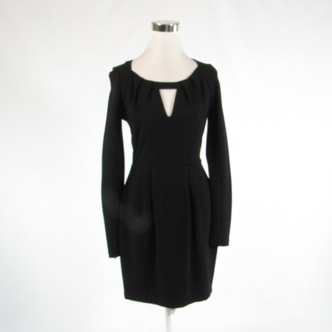 Black FRENCH CONNECTION stretch long sleeve sheath dress 6