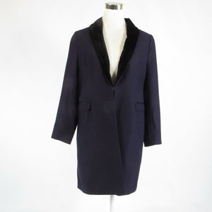 Dark purple black wool blend SOFT SURROUNDINGS long sleeve peacoat M-Newish