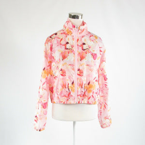 Light pink floral print ANTHROPOLOGIE NANETTE LEPORE long sleeve jacket M