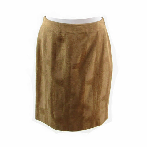 Taupe gold KAY UNGER pencil skirt 8