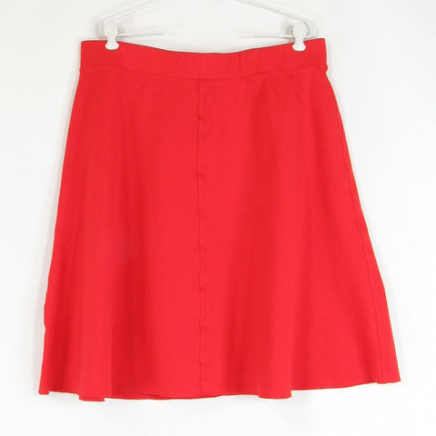 Bright orange ANN TAYLOR stretch A-line skirt XL