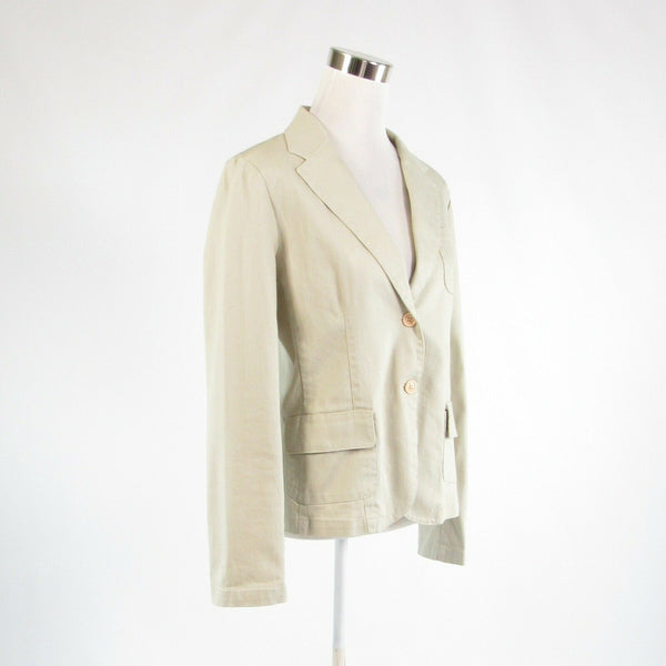 Light beige denim IZOD stretch long sleeve jacket M