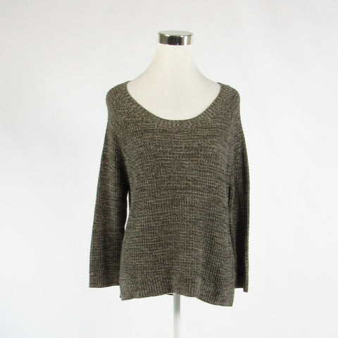 Cool brown cotton blend BANANA REPUBLIC 3/4 sleeve scoop neck sweater M-Newish